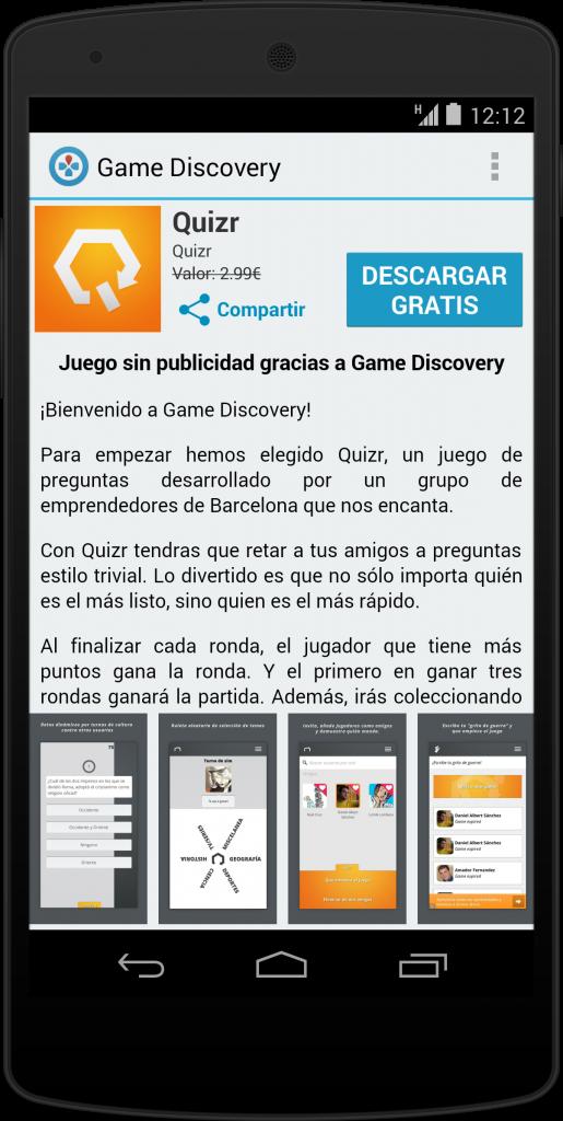Game Discovery Una App Para Descargar Juegos Gratis Con Contenidos