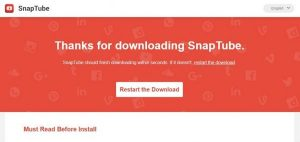 SnapTube te permite descargar vídeos desde donde quieras 1