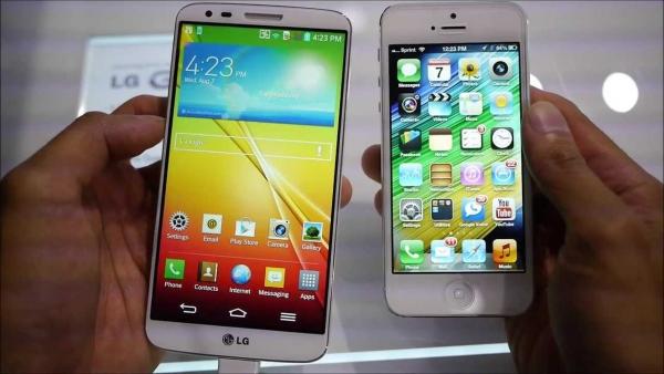 iphones 5 vs LG G2